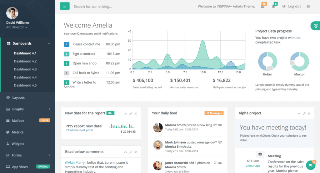 Top 7 Bootstrap Admin Dashboard Templates