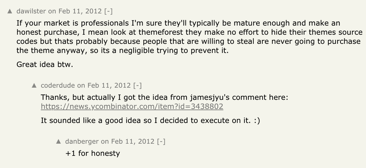 A comment on Hacker News