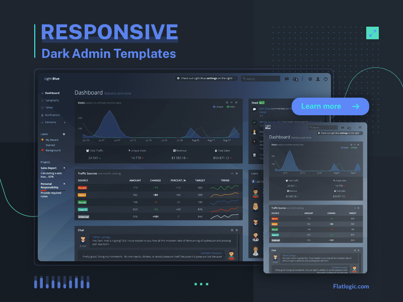 Top 7 Dark-Themed Admin Templates