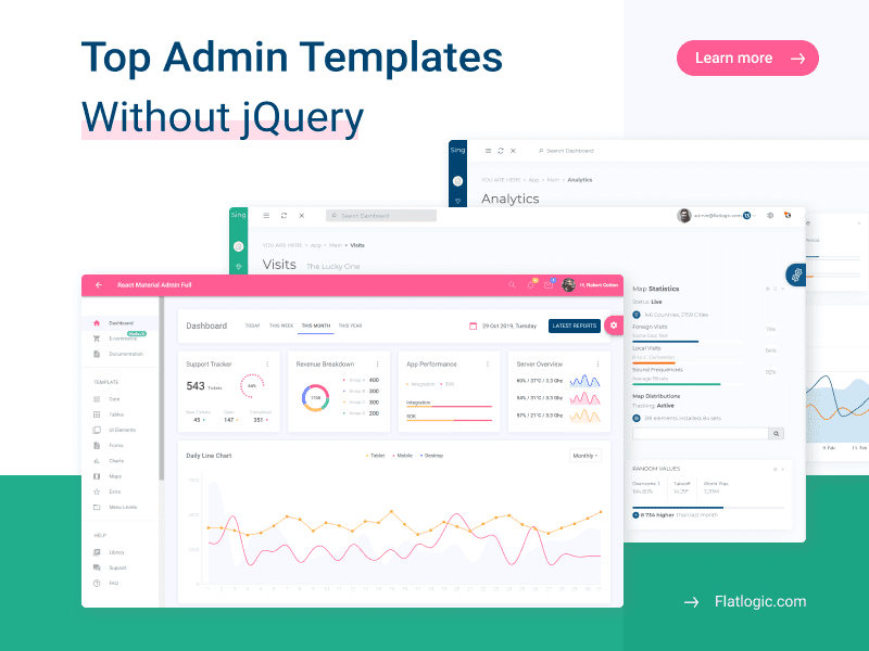 Top 7+ jQuery Free Admin Templates