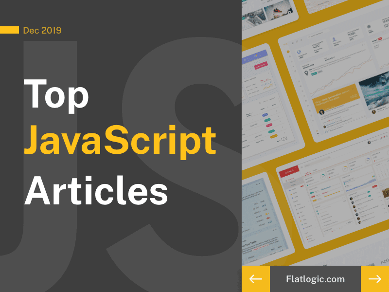 16+ Articles of December 2019 to Learn JavaScript