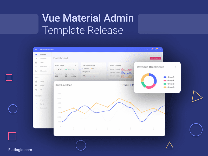 Vue Material Admin Template is Released!
