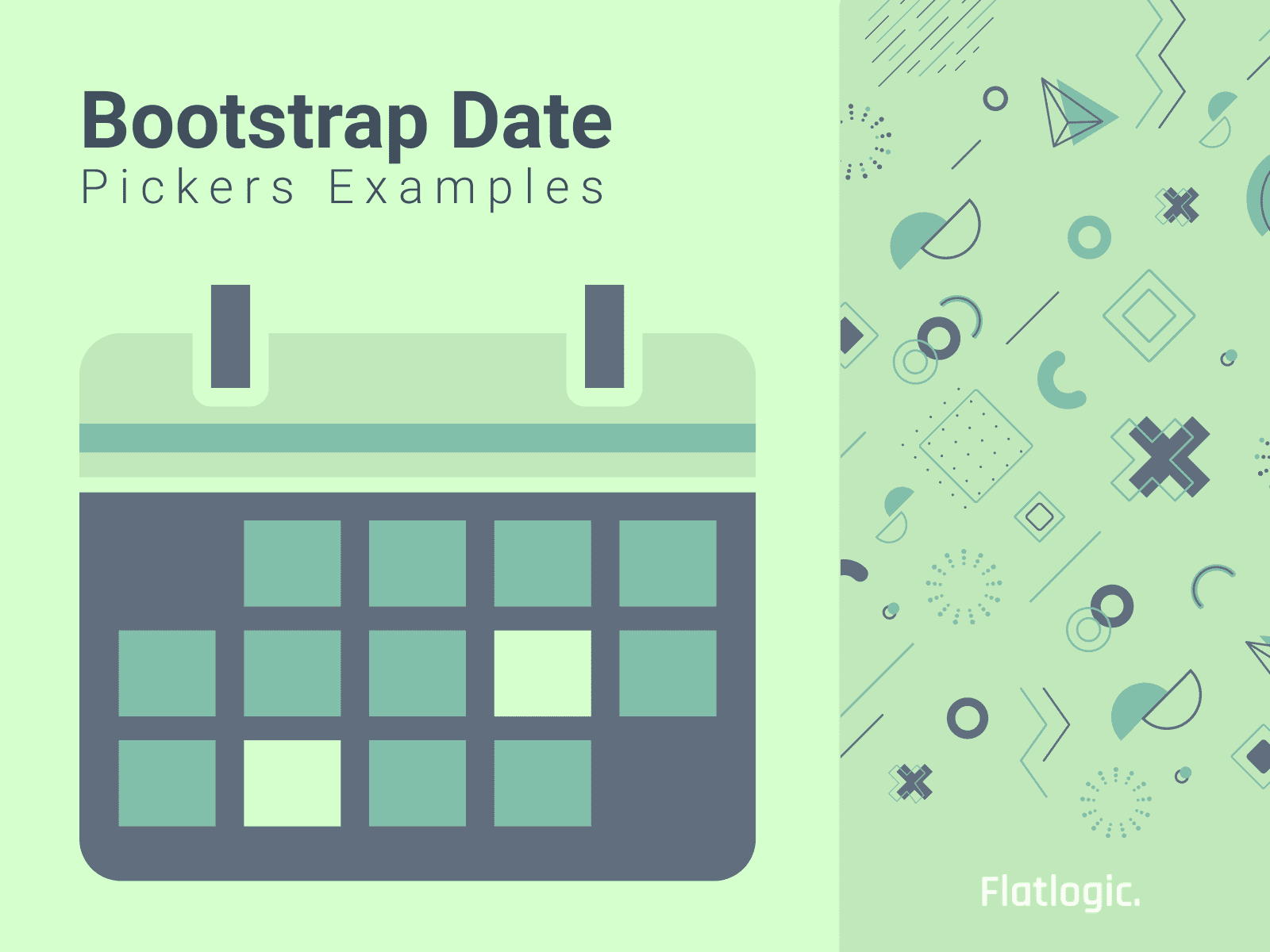 13+ Bootstrap 4 Date Pickers Examples
