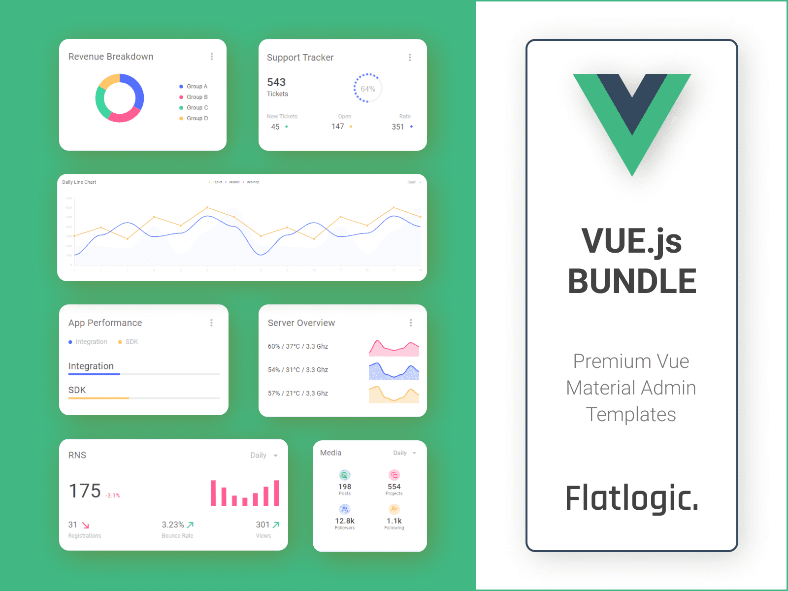Flatlogic Team has Released the Vue.js Bundle!
