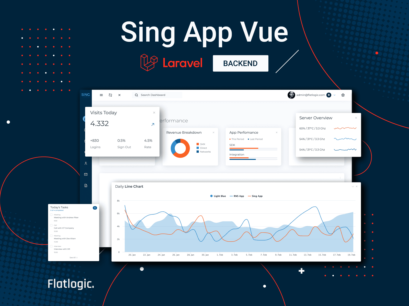 Sing App Vue Laravel Template is Released