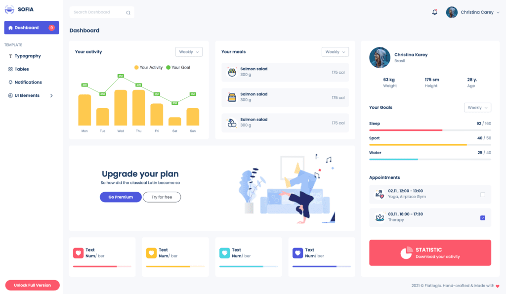 Sofia React Admin Template Free is Released!