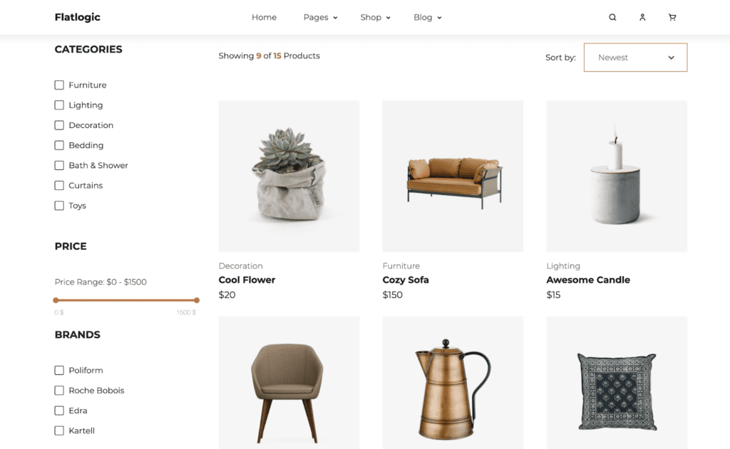 Ecommerce React Template