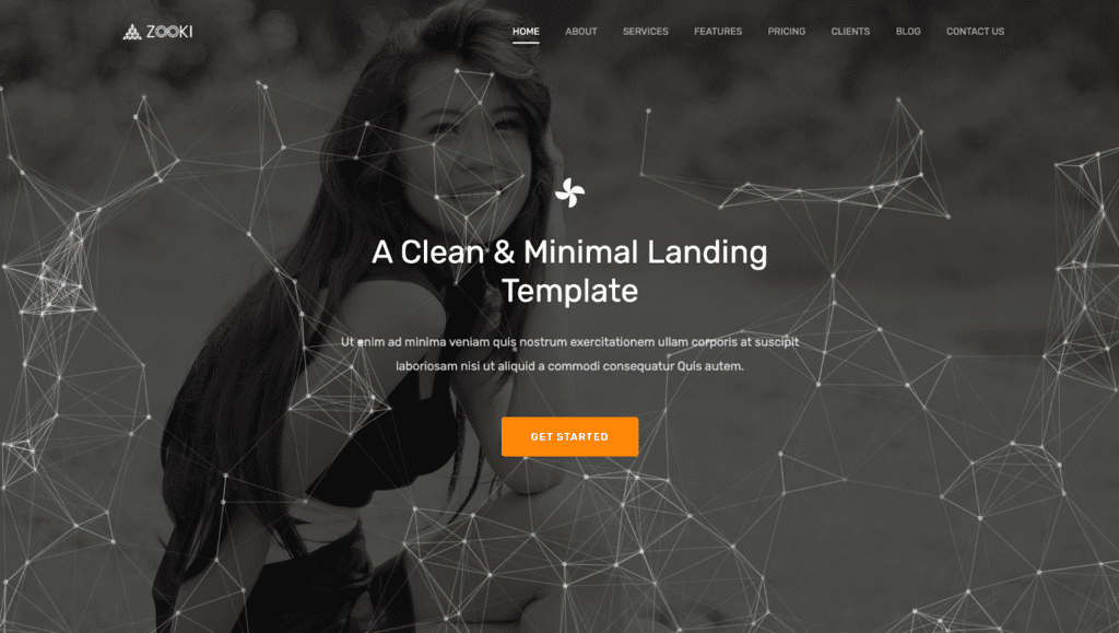react page template, zooki, react website template
